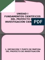 1. Definición y Punto de Partida Del Proyecto de Investigación