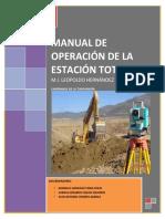 Operacion de Estacion Tota Clasel 2013-1