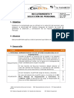 Gh-p-01 Reclutamiento y Seleccion Vs01