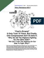 Military Resistance 8G17 Fool's Errand