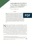 LOPES, Jose Miguel. Literatura Moçambicana Ern Lingua Portuguesa -Na Praia Do Oriente, A Areia Naufraga Do Ocidente