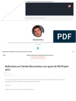 Atribuições Em Tarefas Recorrentes Com Apoio Do MS Project 2013 _ Gerente de Projeto