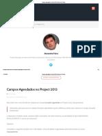 Campos Agendados No Project 2013 _ Gerente de Projeto