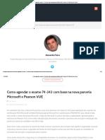 Como Agendar o Exame 74-343 Com Base Na Nova Parceria Microsoft e Pearson VUE _ Gerente de Projeto