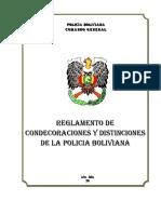11. Reglamento de Condecoraciones y Distinciones Polica Boliviana.pdf