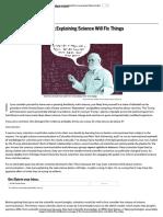 Explaining Science Won't Fix Information Illiteracy