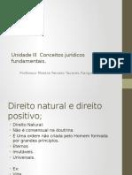 Unidade 3 Conceitos Jurídicos Fundamentais.