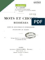 Mots et choses berberes