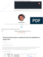 Duração Total Do Projeto Considerando Dias Não Trabalhados No Project 2013 _ Gerente de Projeto