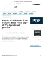 """How to Fix Windows 7 Not Genuine Error -""""This Copy of Windows is Not Genuine"""""""