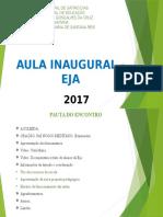Aula Inaugural - EJA