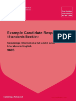 9695 Literature in English Example Candidate Responses Booklet