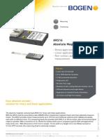 Bogen Technical Data Sheet AKS16 Rev 1 0