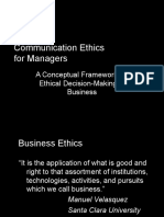 Communication Ethics for Managers
