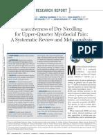 2013,Effectiveness of Dry Needling