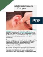Auriculoterapia Escuela Europea
