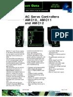 JVL AC Servo Controllers AMC10, AMC11 and AMC12
