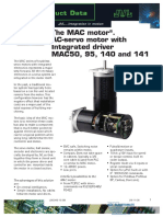 JVL AC-Servo Motor with Integrated Driver MAC50, 95, 140 and 141