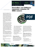 JVL DeviceNet and CANopen Expansion Modules for MAC Motors