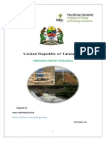 Renewable Energy Resources in Tanzania (by Kaare MANYAMA JACOB)