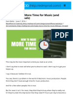 How to Make More Time for Music (and Crush Your Goals)