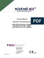 TSCI Mistral-Air Plus MA-1100 - Service Manual