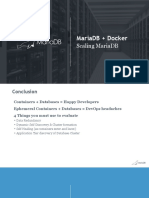 Scaling MariaDB With Docker - Webinar