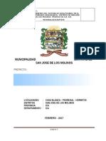 01 Memoria Descriptiva Proyecto   Mejoramiento agua potable Casa Blanca Molinos. PARA EST SUELOSIdocx.docx