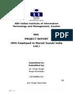 Maruti Suzuki Mis Report
