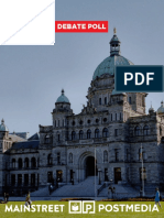 Mainstreet - B.C. Post Debate Poll
