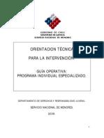 OT Programa Individual Especializado