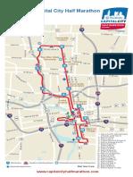 Cap City Half Marathon Map