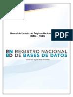 Manual de Usuario Del Registro Nacional de Bases de Datos – RNBD