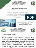 Retencoes de Tributos Ir Inss Iss Andre Felipe Carmo Vilarindo