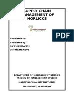 Supply Chain Management of Horlicks