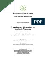 Procedimentos Substantivos Em Auditoria Financeira