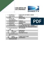 Contrato de Datos de Servicio Kit Prepago