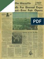 The Gazette - April 28, 1967 - Page 1