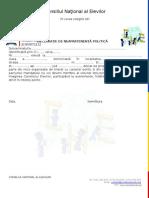Declaratie de Neapartenenta Politica 2013 (1)