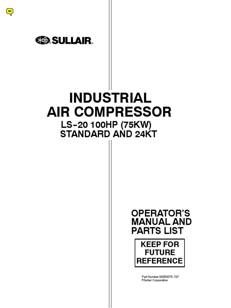 ls20 100 sullair manual pdf gas compressor valve rh scribd com