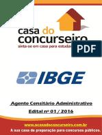 Apostila Ibge 2016 Agente Censitario Administrativo