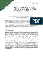 A Review on the Fabrication Techniques of Aluminium Matrix Nanocomposites
