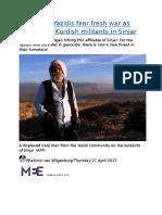 ANALYSIS  Yazidis fear fresh war as Turkey hits Kurdish militants in Sinjar.docx