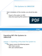R MOD 17-Exporting NFS File Systems to UNIX ESXi