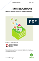 Building a More Equal Scotland: Designing Scotland's Poverty and Inequality Commission