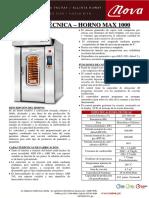 Ficha Técnica- HORNO MAX 1000