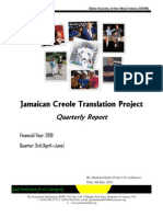Jamaican Creole Bible Update (April - June 2010)