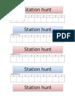 Kertas Cop Kumpulan Station Hunt