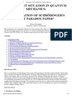 Schroedinger_ _The Present Situation in Quantum Mechanics