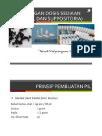 Perhitungan Dosis Sediaan Pil Dan Suppositoria